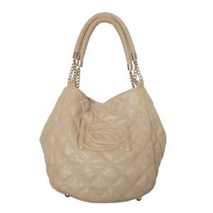 Bebe Quilted Convertible Satchel Tote